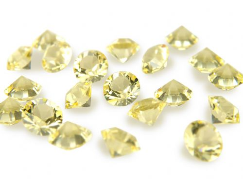 Pk 100 Swarovski Unfoiled Table Crystals, Style 1028, SS24 (5.5mm), Jonquil